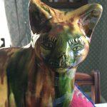 19th Century slipware cat